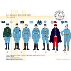 Les Services Administratifs, 1915-1918