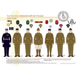 Les Services Administratifs de l'Armée, 1935-1940