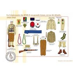 Le Légionnaire du RMLE en grande tenue, revue de détails, 1944-1945