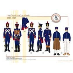 Les Ouvriers d'Artillerie, 1813-1815