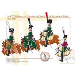 Le 4ème Régiment de Chasseurs à Cheval du Royaume d'Italie, 1806-1813