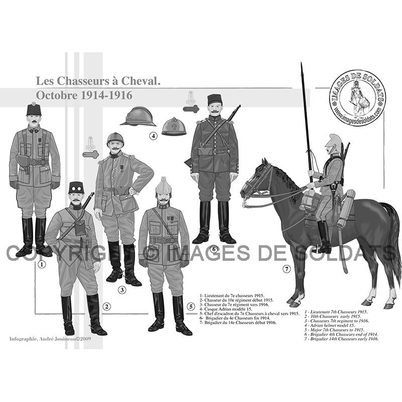 les chasseurs cheval octobre 1914 1917. Black Bedroom Furniture Sets. Home Design Ideas