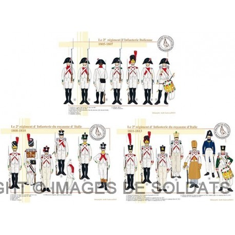 Le 2e régiment d'Infanterie du royaume d'Italie, 1805-1813