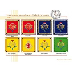 Les drapeaux des régiments d'infanterie saxons, 1806