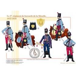 Le 3ème régiment de hussards de la Moselle, 1815-1818