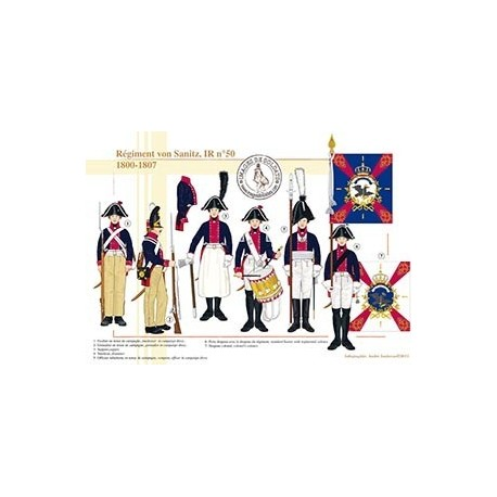 Régiment von Sanitz, IR n°50, 1800-1807
