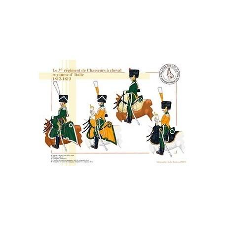Le 3ème régiment de Chasseurs à cheval, royaume d'Italie, 1812-1813