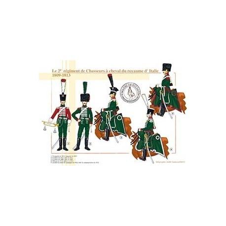 Le 2ème régiment de Chasseurs à cheval, royaume d'Italie, 1809-1813