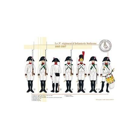 Le 3e régiment d'Infanterie Italienne, 1805-1807
