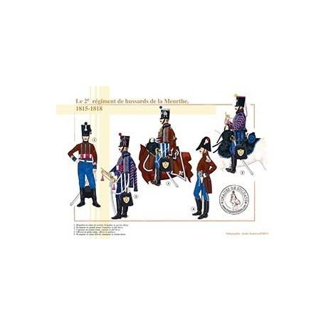 Le 2ème régiment de hussards de la Meurthe, 1815-1818