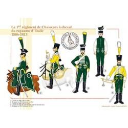 Le 1er régiment de Chasseurs à cheval du royaume d'Italie, 1806-1813