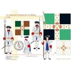 Le régiment d'infanterie La Reine, 1758