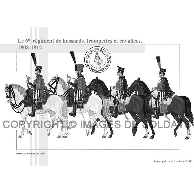 Le 6ème régiment de Hussards, 1808-1812