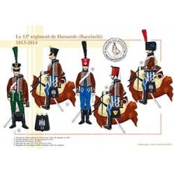 Le 13e régiment de Hussards (Bacciochi), 1813-1814