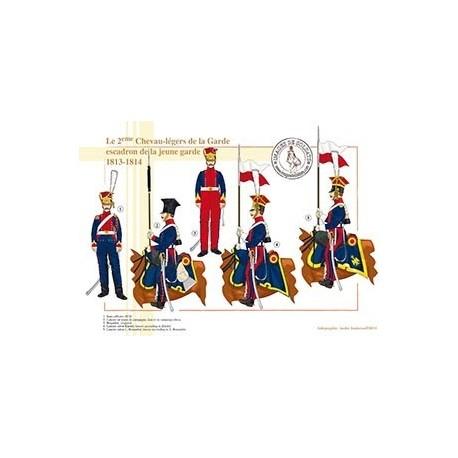 Le 2e Chevau-légers de la Garde, escadron de la jeune garde, 1813-1814