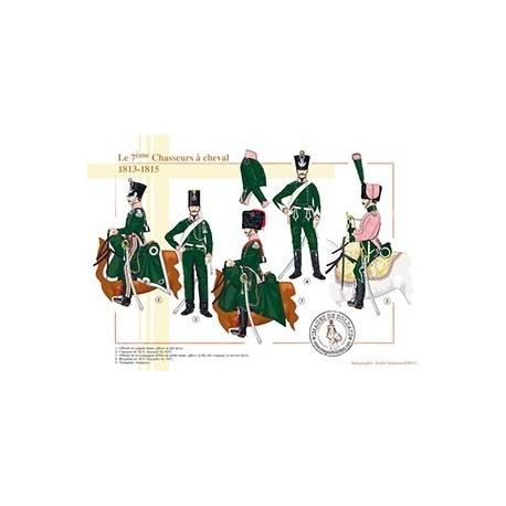 Le 7ème régiment de Chasseurs à cheval, 1813-1815