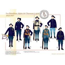 Les Bataillons Alpins de Chasseurs à pied, 1915-1917