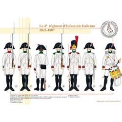 Le 4e régiment d'Infanterie Italienne, 1805-1807