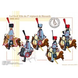 La Compagnie d'Elite du 3e régiment de Hussards, 1808-1812