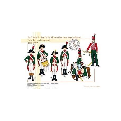 La Garde Nationale de Milan et les chasseurs à cheval de la Légion Lombarde, 1796-1797