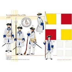 Le régiment Eu, n°20, 1757