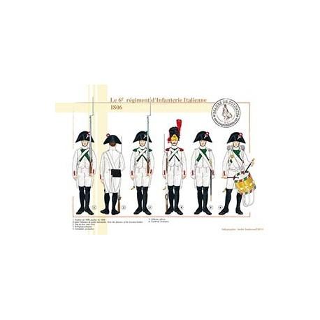 Le 6e régiment d'Infanterie Italienne, 1806