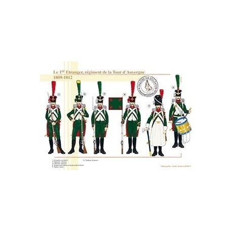 Le 1er Etranger, régiment de la Tour d'Auvergne, 1809-1812