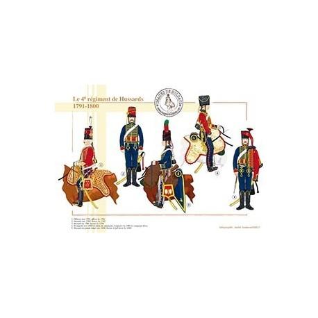Le 4e régiment de Hussards, 1791-1800
