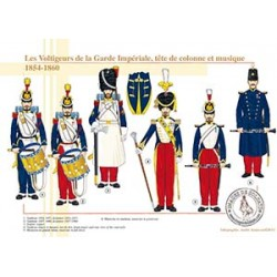 Les Voltigeurs de la Garde Impériale, tête de colonne et musique, 1854-1860