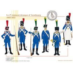 Le 2ème régiment étranger, d'Isembourg, 1805-1811