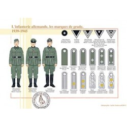 German infantry, rank marks, 1939-1945