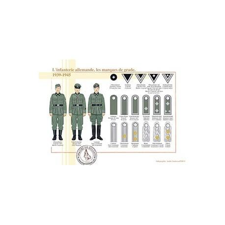 L'infanterie allemande, les marques de grade, 1939-1945