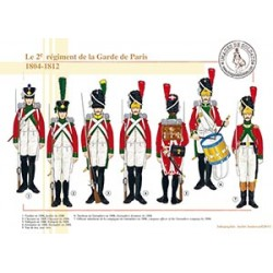 Le 2e régiment de la Garde de Paris, 1804-1812