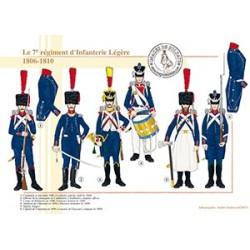 Le 7e régiment d'Infanterie Légère, 1806-1810