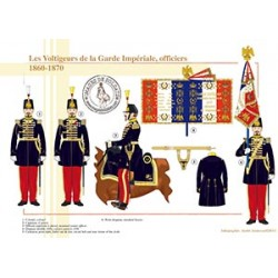 Les Voltigeurs de la Garde Impériale, officiers, 1860-1870