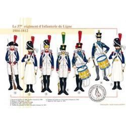 Le 57e régiment d'Infanterie de Ligne, 1804-1812