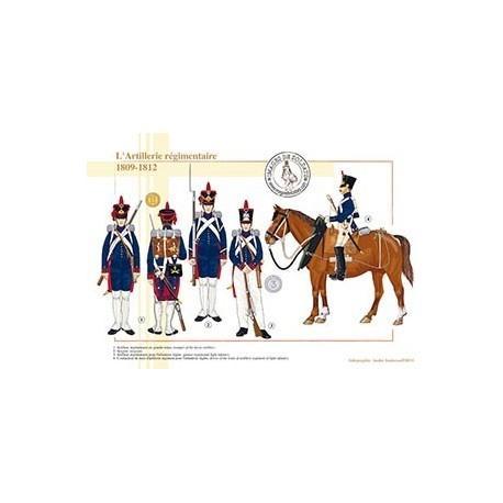 L'Artillerie régimentaire, 1809-1812