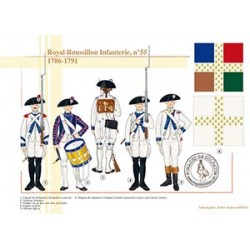 Royal-Roussillon Infanterie, n°55, 1786-1791