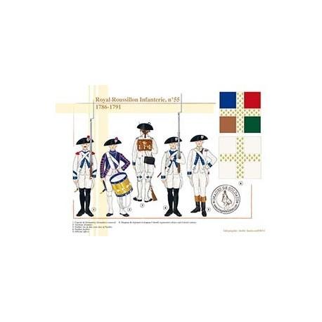 Royal-Roussillon Infanterie, n°55, 1786-1791