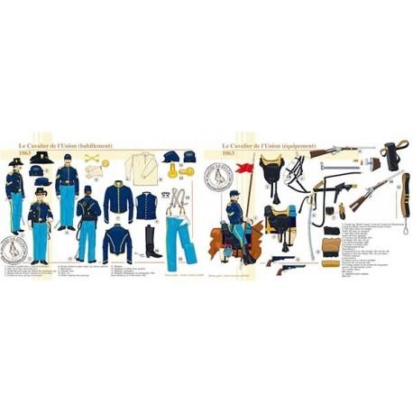 Le Cavalier de l'Union (habillement et équipement), 1863