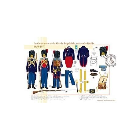 Le Gendarme de la Garde Impériale, revue de détails, 1854-1870