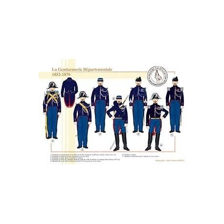 La Gendarmerie Départementale, 1852-1870