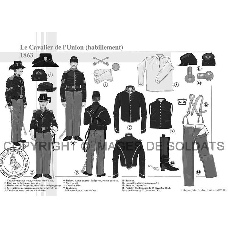 b49701960fb7 Le Cavalier de l Union (habillement et équipement), 1863