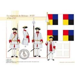 Le régiment de Brissac, n°57, 1754-1757