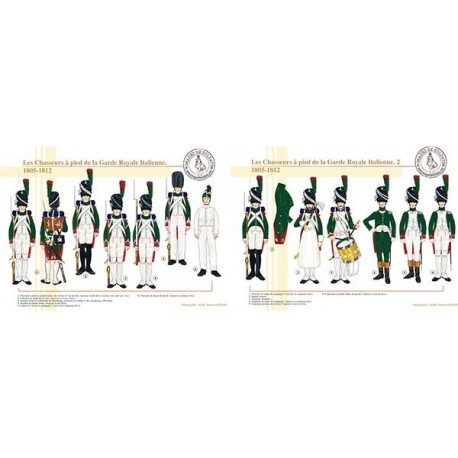 Les Chasseurs à pied de la Garde Royale Italienne, 1805-1812