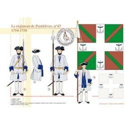 Le régiment de Penthièvre, n°67, 1754-1758