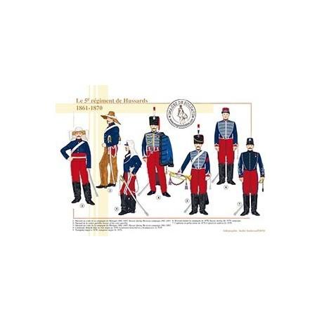 Le 5ème régiment de Hussards, 1861-1870