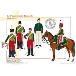Le 7ème régiment de Hussards, 1860-1870