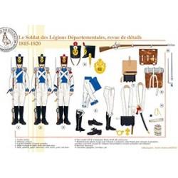 Le soldat des Légions Départementales, revue de détails, 1815-1820