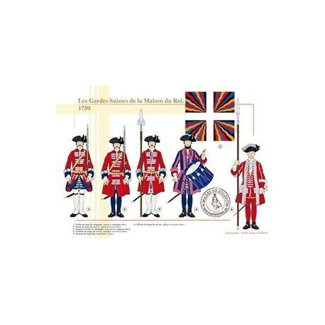 Les Gardes Suisses de la Maison du Roi, 1750